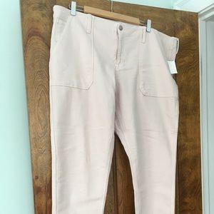 Gap denim pale cream pants size 18R